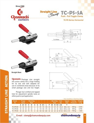 Push Pull Toggle Clamp