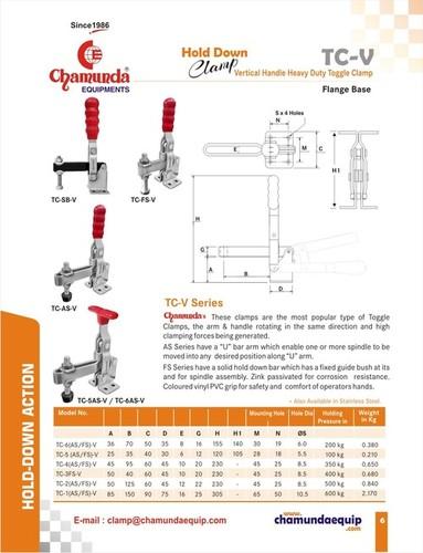Vertical handle heavy duty clamp