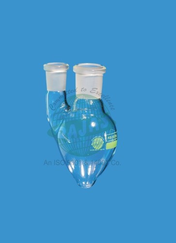Pear Shape Two Neck Flask