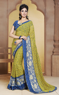 Green Lovely Chanderi Cotton Party Wear Suit