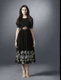 Black Designer High-Low Style Kurti