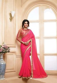 Georgette Shaded Satin and Chiffon 2 Tone