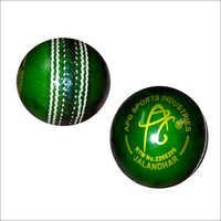 APG GREEN PROMOTIONAL LEATHER CRICKET BALL