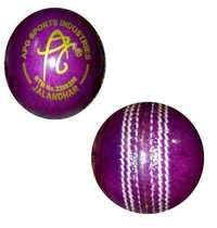 APG PROMOTIONAL LEATHER CRICKET BALL PURPAL COLOUR