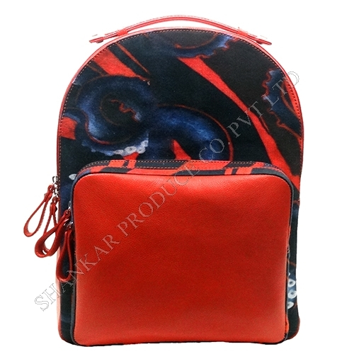Digitally printed canvas Backpack