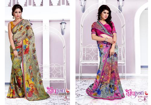 Embroidered Designer Sarees for ladies