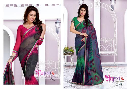 Printed Designer sarees for ladies