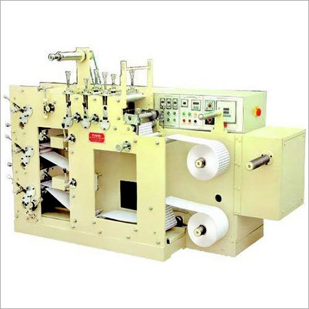 Three Colour Rotary Label Printing Machine
