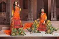 Multi-color Georgette Suit