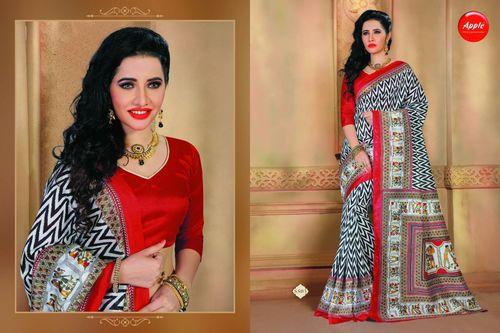 Art silk multi-color saree