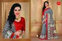 Art silk multi-color saree