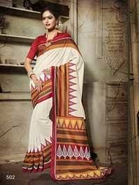 Digital Printed Art Silk Saree