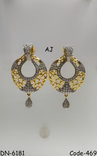 American Diamond Earring with Mate Finish