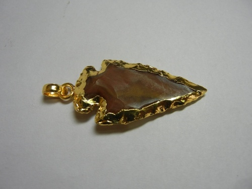 Gold Plated Arrowhead Pendant Selling Per Piece