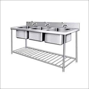 Three Sink Washing Unit