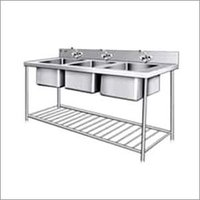 Three Sink Washing Unit