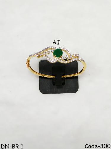 American Diamond Bracelet with Colour Stone