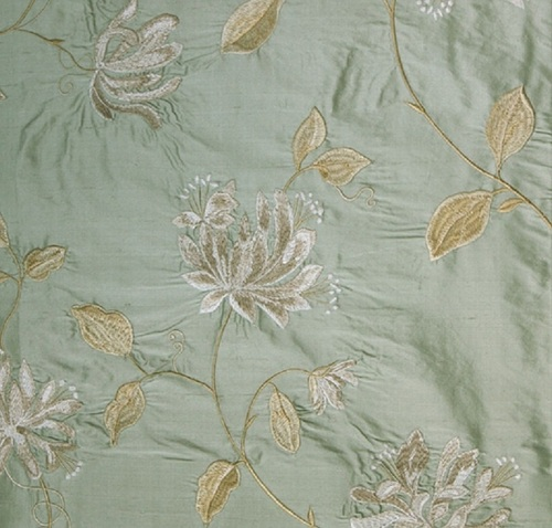silk dupion embroidered fabrics