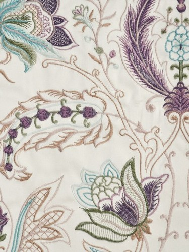 cream taffeta silk embroidery