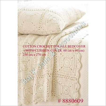 Cotton Crochet Double Bed Cover