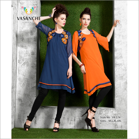 Ladies Embroidered Tunic Top