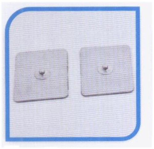 Self adhesive button electrodes - 50x50mm square (set of 4 pcs)