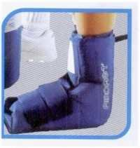 Ankle cryo cuff with cooler and tube assembly