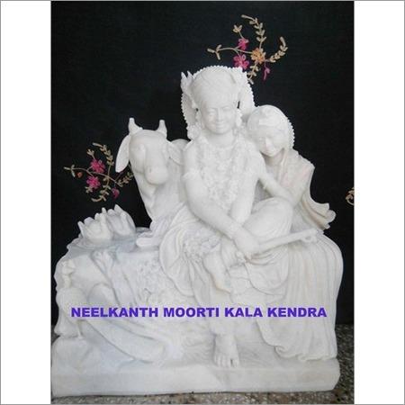 Lord radha krishna sculpture