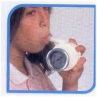 Buhl portable spirometer with mouth pieces