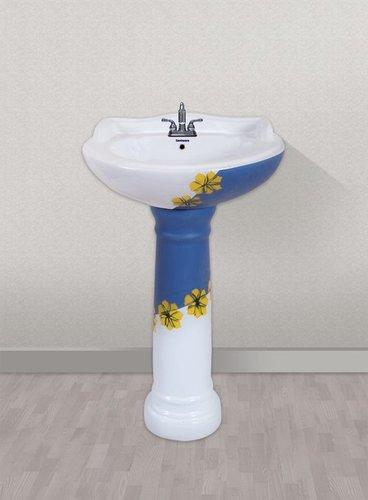 Round Pedestal Wash basin set