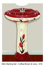 DESIGNER WASH BASIN WITH PEDESTAL