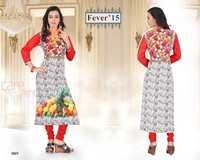 Long Design Printed Georgette Kurti
