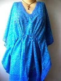 BLUE DESIGNER COTTON KAFTAN