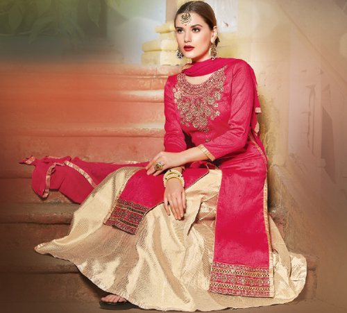 Red Stylish Party Wear Lehenga Suit