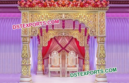 Latest Wedding Fiber Mandap Set