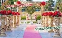 Wedding Fiber Golden Mandap