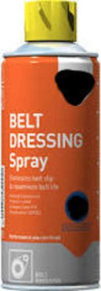 Belt dressing spray
