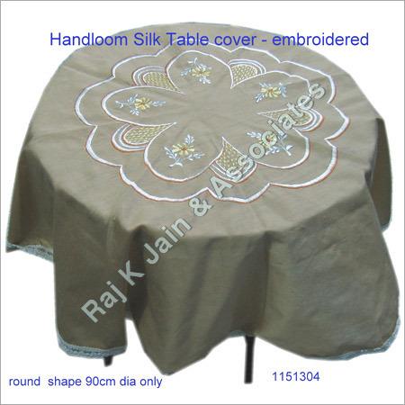 Handloom Silk Table Cover