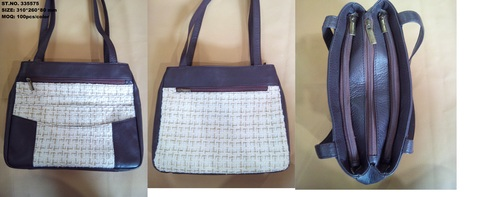 Fabric Leather Hand Bag