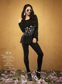 Black Designer Top