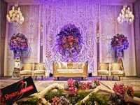 classic wedding stage