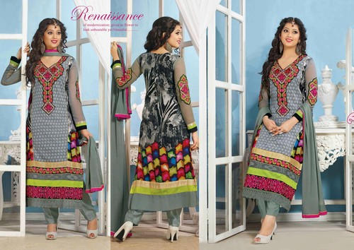 Beautiful Embroidery Designer Printed suit