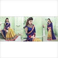 Net Lehenga With Patch Work & Jarkan Hand Work Sarees