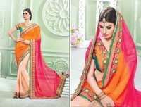 Net Lehenga Sarees With Cording Work