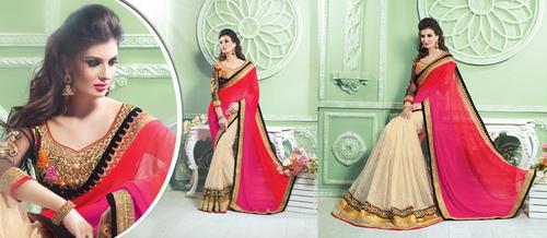 Bollywood StyleCording Work Lehenga Saree