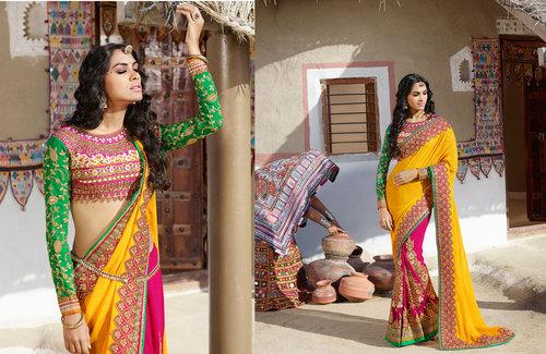 Indian Designer Bridal Lehenga Style Saree