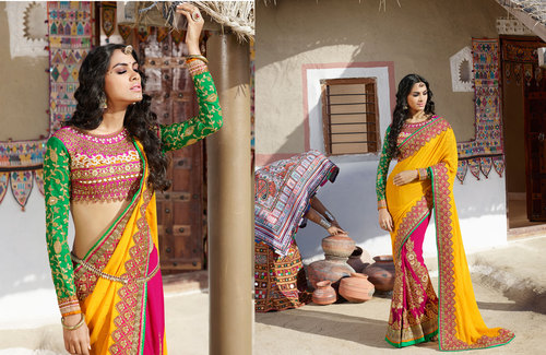 Indian Designer Bridal Lehenga Style Saree