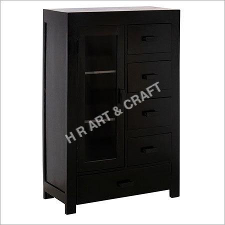 Modern Solid Wood Storage Cabinet