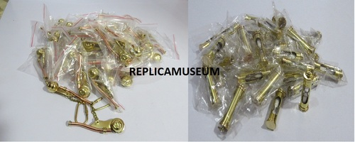 BRASS WHISTLE & SAND TIMER KEY CHAIN SET OF 50