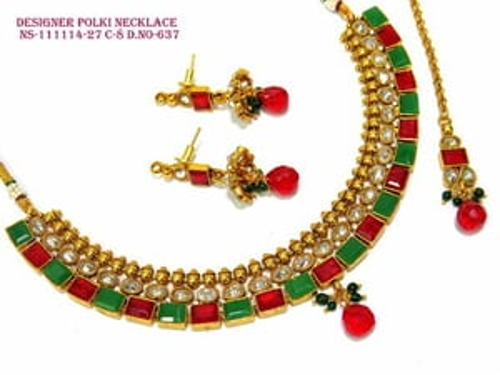 Colourful Polki Necklace